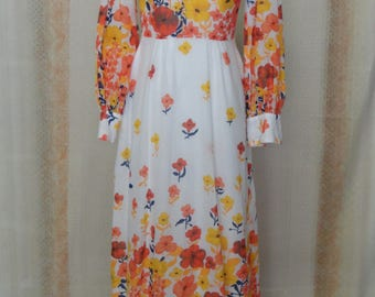 dress Bohemian vintage 1960s-1970s
