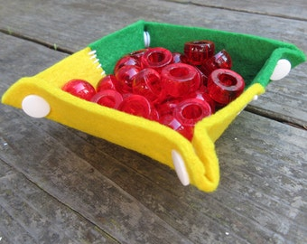 Felt Tray Set - Hand Stitched Primary Colors