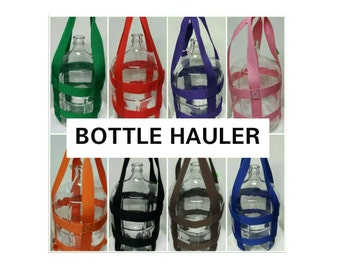 3 Gallon Water Bottle Hauler Carrier.    Carry your bottle with ease Bottle carboy  Tote glass bottle not included Patent 8,979,153 B2