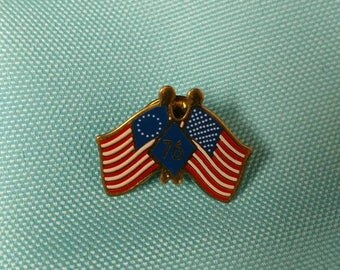 American Heritage Flag Pin '76