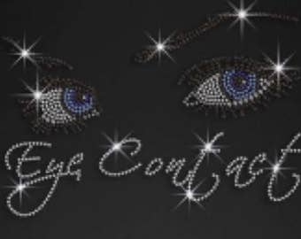 Rhinestone Eye Contact  Ladies T Shirt   or  Iron On T Shirt Transfer                                      XYJB