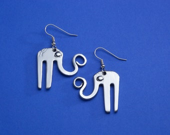Fork Elephant Earrings