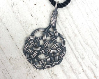Handmade Celtic Knot, Vintage look, Sterling Silver, Kazaziye necklace. Beautiful jewelry gift for her.
