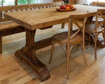 Rustic Pine wooden dining table+chairs...Oil finish
