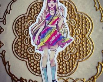 Lady Rainicorn Adventure Time Fanart Handcut Sticker