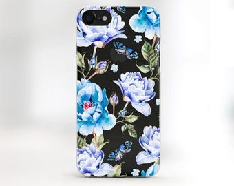 Case Flower Case iphone 7 Plus Case iPhone 7 Case floral 6 iPhone Case 6s Plus iPhone Spring Case Floral iPhone Case Clear galaxy s7 case