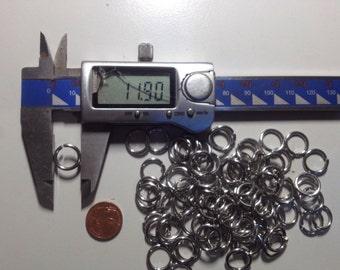 1000 Biegegringe, 1.6 x 11.9 ALU, Chainmaile, chain rings