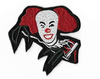 Pennywise The Dancing Clown Patch (3.5 Inch) DIY Embroidered Iron or Sew on Badge Applique IT Horror Movie Souvenir Monster Film Costume