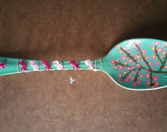 "Hand Painted ""Spring Blossoms"" Spoon"