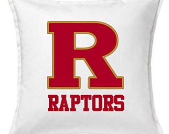 18 inch White Cotton Pillow Cover - Custom High School/Team/Jersey Number