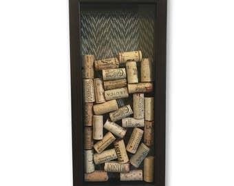 Wine Lover Gift - Wine Cork Shadow Box - Wine Cork Art - Gifts for Wine Lovers - Wine Gifts - Wine Cork Box - Wine Cork Decor - Unique Gifts