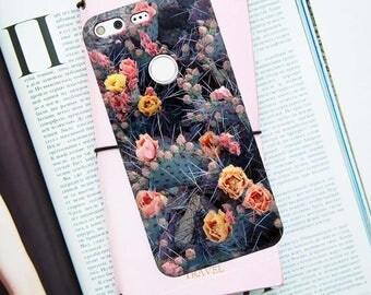 Cactus pixel case, pixel case, pixel xl case, floral, google case, google pixel case, pixel cactus case, pixel flowers case, pixel 2 case