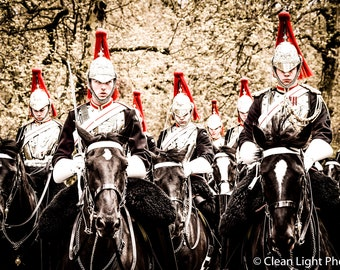 Horse Royal Guards - High-quality Picture for decoration. Mounted on matboard or print-only.