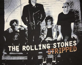 Vintage 90s the rolling stone stripped t shirt