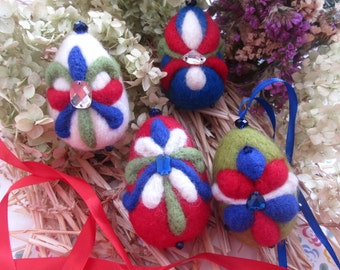 "Egg Easter Decoration Needle Felted Eggs Easter Gift for her Easter.Eggs Souvenirs ""Imperial crown""."