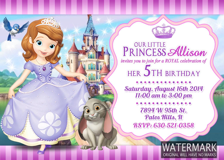 Princess sofia invitation birthday card e10261624441437736m princess sofia invitation birthday card bookmarktalkfo Gallery