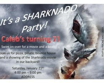 Custom Sharknado Invitation
