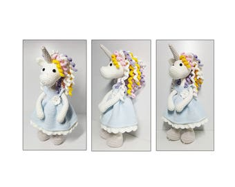 amigurumi,crochet pattern Unicorn