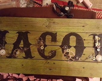 Custom Steam Punk Pallet Sign
