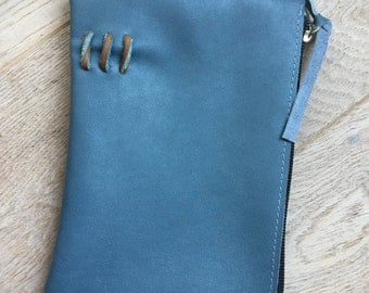 Handmade leather case  for make-up, pencils & other small stuff