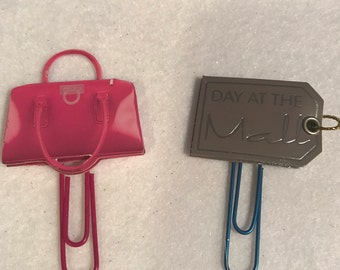Purse and mall tag planner clip set