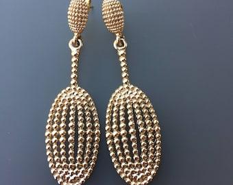 Beautiful Gold Earrings Handmade, Party Earrings, Vintage Earrings, Trendy Earrings