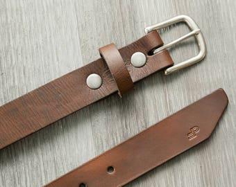 Men's Belt, Handcrafted Full Grain Leather Belt, Men's Fashion