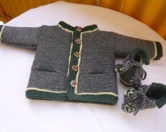 Baby costume Janker, jacket, Cardigan with matching shoes