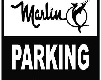 AMC AMX Parking Only 12x18 Thick Aluminum Sign