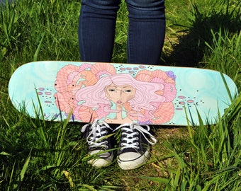 Skateboard Deck | Surfacing - Azza Skateboards | Skateboards | Skateboards for girls | Gift for her | longboards | Beach Style