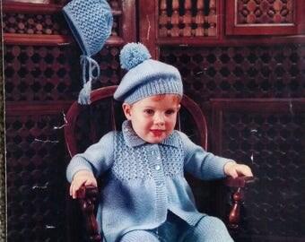 Vintage Emu Treasure Knitting Pattern Pram Set.  No. 8599