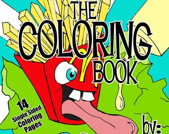 Food Fiends Coloring Book by Reb NoFun