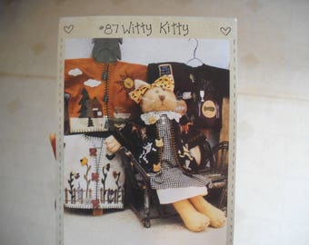 Witty Kitty -Kitty Cat Pattern with Clothes