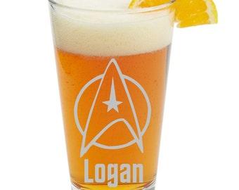 Star Trek, Personalized Glass- Themed Pint Glasses-Beer Glass