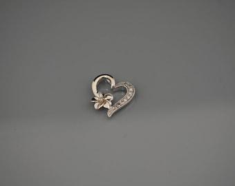 10K white gold heart pendant!