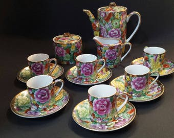 Chinese porcelain coffee set
