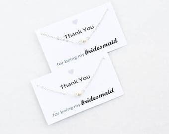 Bridesmaid Gift Bridesmaid Pearl Pendant Necklace for Bridesmaid Necklace Gift for Bridesmaid Jewelry Unique Bridesmaid Gift (00AWE005)