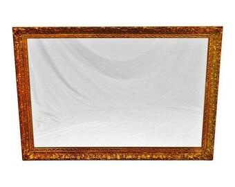 Vintage 1964 Gold Gilt Gesso Framed Wall Mirror 40 x 28