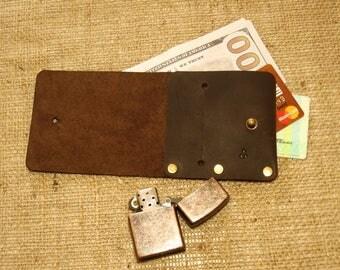 Leather wallet, Simple wallet, Purse banknote, Minimalist wallet, Leather wallet Doshch # 341