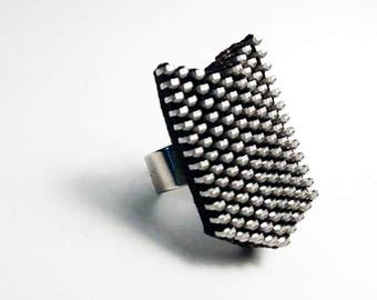 Black zipper ring