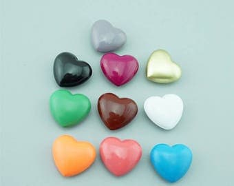 5 PCS 24*25 MM Heart-shaped Chime Ball, Harmony Ball Mexico Bola Chime Beads Pendant ,Angel Caller Balls for Pregnancy Mom QY003