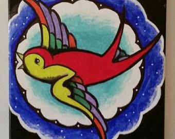 Acrylic Sparrow (original)