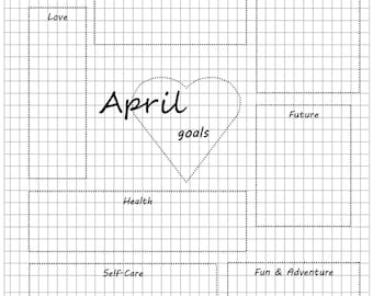 Collection of Monthly Goal Planners Printable