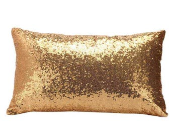 Rectangle Deep Gold Sequin