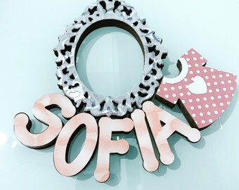 Plaque Baby name (Girl)
