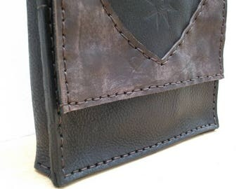 Hand-sewn genuine leather men shoulder BAG. Canapart!