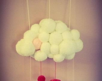 Mobile white Pompom