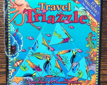 Travel Triazzle Small Magnetic Puzzle          Perfect Travel Companion