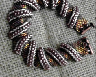 Beaded Bracelet, copper,