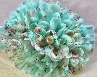 Large Chiffon Flower Headband